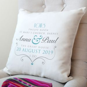 Personalised Wedding Vows Cushion